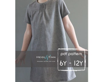 Pintuck Blouse and Dress PDF pattern and tutorial 6-12y EASY SEW tunic dress jumper