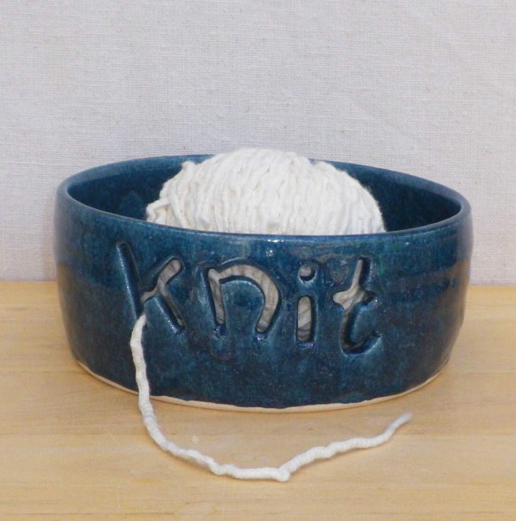 Knitting Bowl Uk : Yarn bowl knitting wool hand thrown pottery by caractacuspots