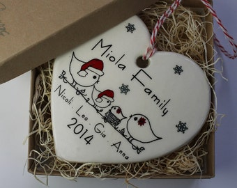 Custom Ceramic Family Ornament