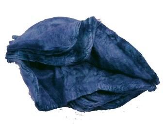 Mawatas Silk Hankies Navy - 15 grams