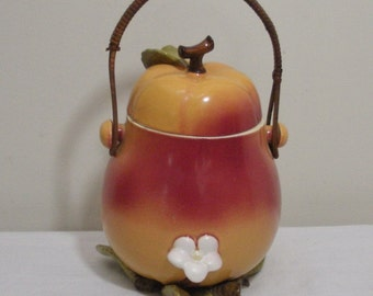 Vintage Japan Maruhon Ware Pear Shaped Biscuit Jar