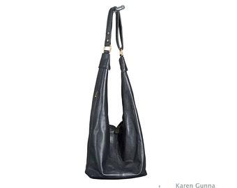 Big Leather Purse, Shoulder Bag, Crossbody, Slouch, Hobo Sac -THE RITA