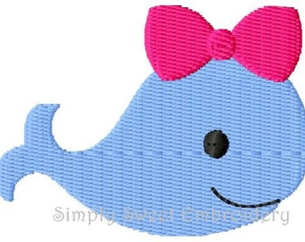 Girl Whale Machine Embroidery Design