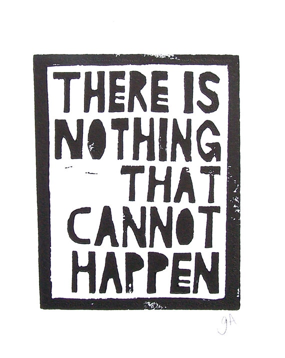 LINOCUT PRINT - There is nothing black - mark twain block print typography 8x10 letterpress