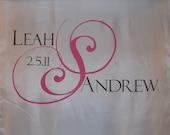 Wedding Aisle Runner Personalized Custom Monogram Aisle Runner Ceremony Decor Wedding Isle White Runner Decoration