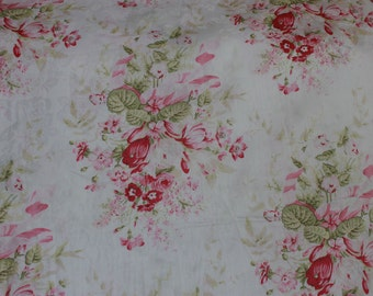 Yuwa Pink Rose Floral Jacquard Fabric CR291326