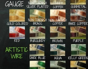 16 gauge Artistic Wire  - So Many Colors - 10 Feet  - 100 Percent Guarantee