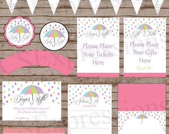 Umbrella Baby Shower Printable Party Package