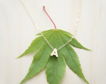 "Gold Letter, Alphabet, Initial capital ""A"" necklace, birthday gift, lucky charm, layered necklace"