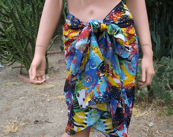 Los Angeles Graffiti Slimming beach wrap , Sarong/Pareo, pool cover up,chiffon,oversized scarf,colorful shoulder wrap