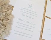 Starfish Wedding Invitation Card Suite