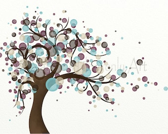 Blowing Tree Living Room Print 11 x 14 Wall Art, Home Decor (35)
