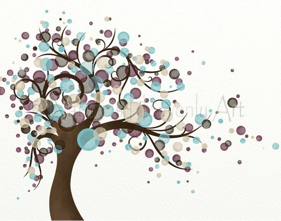 Blowing tree living room print 11 x 14 wall art home decor for 11 x 14 living room