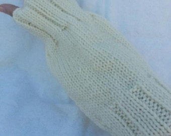 Hand Knit  Arm Wrist Warmers for Teen or Adult