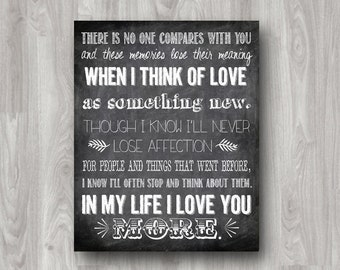 In My Life Lyrics Quote by The Beatles Typography Printable - Custom Colors Available