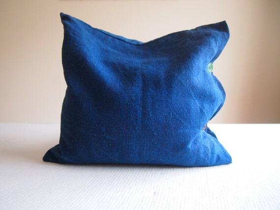 indigo kissen leinen kissen blaue kissen einfachen stoff. Black Bedroom Furniture Sets. Home Design Ideas