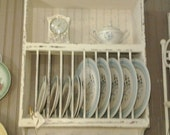 10 Slot PLATE RACK with Shelf Order your color and finish choice Country Cottage Farmhouse Primitive