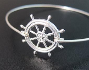 Ship Steering Wheel Bracelet, Ocean Inspired Jewelry, Pirate Jewelry, Pirate Ship Wheel, Pirate Bracelet, Ship Jewelry, Boat, Boating Gift
