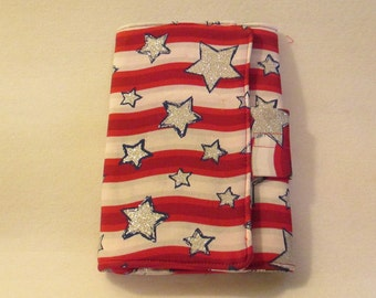 Handmade - Patriotic - Kindle Cover -  Padded eReader - Kindle - Kindle Fire - for 7 to 8 inch tablets