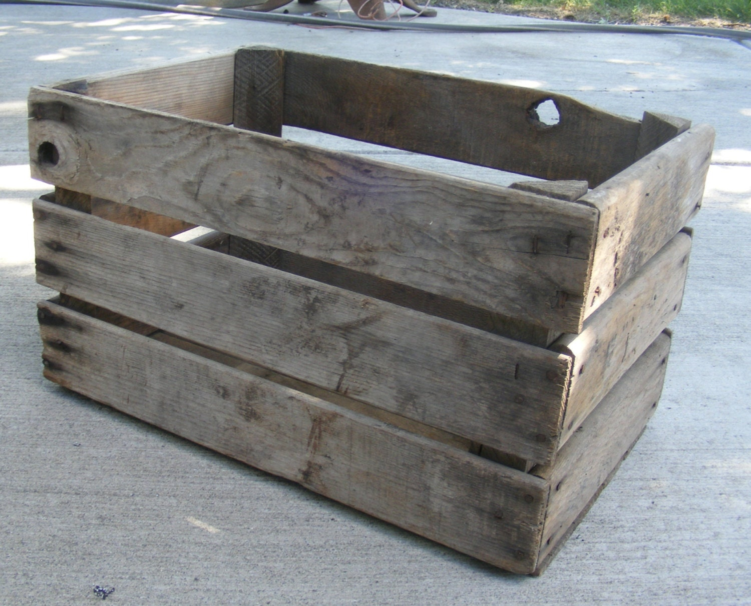 vintage apple crate wooden fruit box rustic wood by