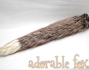 Dark Brown Realistic Fox Tail - Cosplay / Furry / Costume