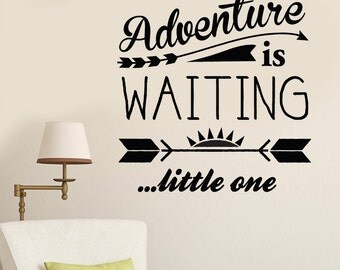 Adventure Nursery Art  Vinyl Lettering by Decomod Walls 22X22.5