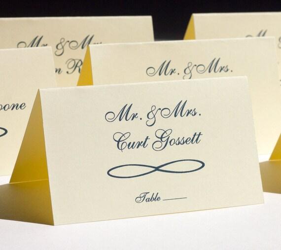 Infinity Mobius Place Card Wedding Name Card Handmade Custom