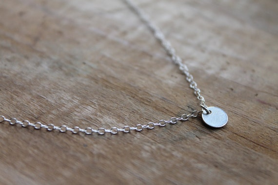 Cannes Celebrity Tiny Sterling Silver Dot on Sterling Silver Chain Necklace