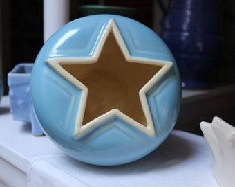Weller Pottery Atlas Rose Bowl Vase Star VINTAGE by Plantdreaming