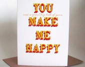 You and a great big ball of yarn make me happy -  greeting card