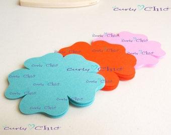 "48  Flower IV Die cuts Size 3"" -Flower Labels -Paper Flower tags -Cardstock Flower die cuts -Paper tags -Paper Flower Labels"