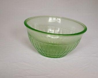 Vintage Vaseline Glass Serving Bowl By United States Glass Company 1920s