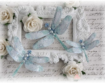Mystic Dragonfly Embellishments Sweet Blue for Scrapbooking, Cardmaking, Tag Art, Mixed Media, Wedding