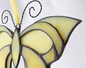 Yellow Stained Glass Butterfly Deco-Style