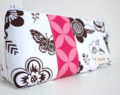 NEW Personalized Cosmetic Makeup Bag - Woodcut Garden - Made to Order