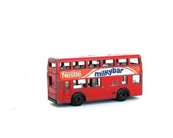 vintage double decker red bus   ...  england souvenir