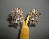 Clip On Earrings Glamourous Articulated Crystal Earrings