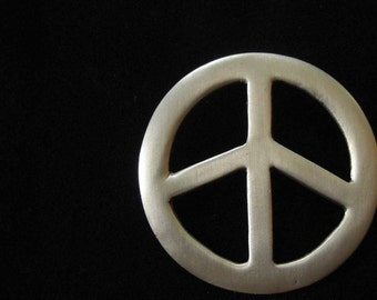 Large Pewter Peace Sign Pendant