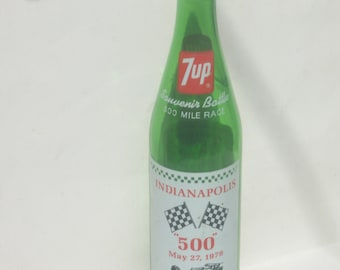 Indianapolis 500 Mile Race 1979 Souvenir 7-Up Bottle