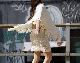 Jackie O neckline Poncho - Organic Cotton