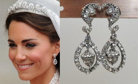 Kate Middleton Wedding Earrings katemear439 by tudorshoppe