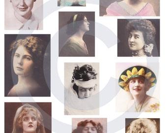 Vintage Ladies JPG Sheet - Instant Download