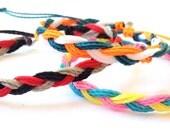 Braided friendship bracelets. Braided string bracelet. Personalized thread bracelet. Best friend bracelet. Custom string bracelet. Wax cord