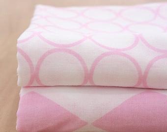 Lovely Pink Circle on Double Washing Gauze 150cm WIDE, U114