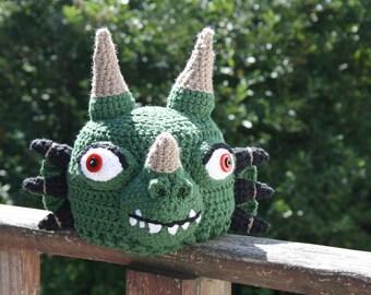 THE Dragon Hat, Dragon Hat, Syfy Costume, Halloween Costume, Crochet Beanie, Geekery, Green Dragon Hat, Boy's Clothing, Girl's Clothing