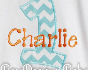 Birthday Shirt, Personalized Birthday Boy Shirt, Number, Monogrammed, Appliqued, Custom Fabric Choices and Colors, Boys Birthday Shirt
