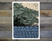 Large Waves Giclee Print