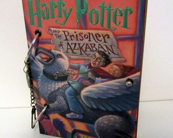 Harry Potter  and the Prisoner of Azkaban JOURNAL Unique Travel Log Daily Diary OOAK Upcycled