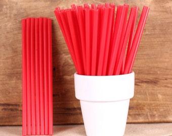 Bulk Red Lollipop Sticks, Small Red Cake Pop Sticks, Valentine's Lollipop Sticks, Valentine's Cake Pop Sticks, Sucker Sticks, Lolly Sticks