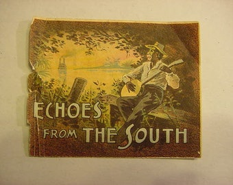 SALE...Echoes From The South Victorian Advertising Trade Card for Yer Baby's Comin' To Town Sheet Music Antique
